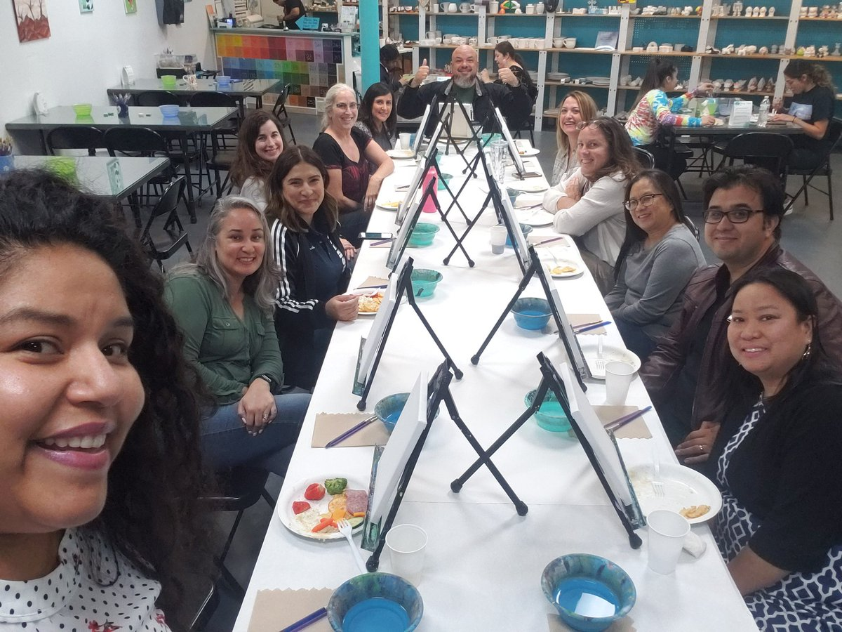 I enjoyed making a RAMtastic memory with teacher-friends. Self care accountability through our Staff Social Committee. #proudtobeLBUSD