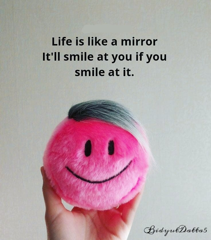 Life Is Like a Mirror It'll Smile At You If You Smile At It,  #bidyutdatta #life #smile #sad #work #likeforfollow #mirror #safe #lifeisshort #smileyourface  @BidyutDatta5pic.twitter.com/vdyUsJp0LO