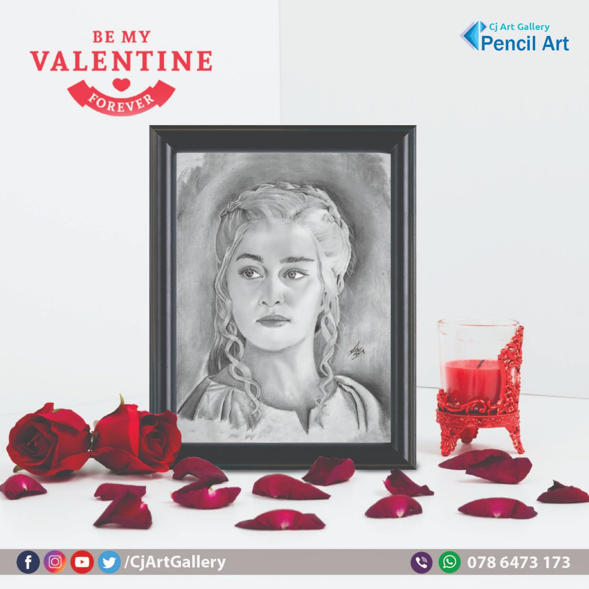 We offer high quality & realistic hand drawing pencil portraits as a memorable souvenir to gift your loved ones for Valentine day. Contact: 0786 473 173 (Whatsapp/Viber) Visit @CjArtGallerypic.twitter.com/qBVDADEbAx – at Pita Kotte