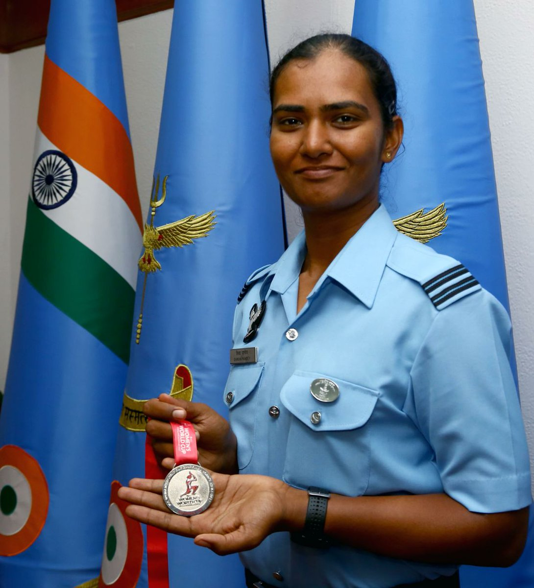 """#IAF Achievers: Sqn Ldr Shikha Pandey will be a pt of Indian Women's cricket team in the ICC T-20 World Cup. She also features in ICC Women's ODI Team of the Year 2019. """"Playing for my country is a passion realised and donning the IAF uniform is a dream come true"""", she says. <br>http://pic.twitter.com/ax5RPEpKaz"""