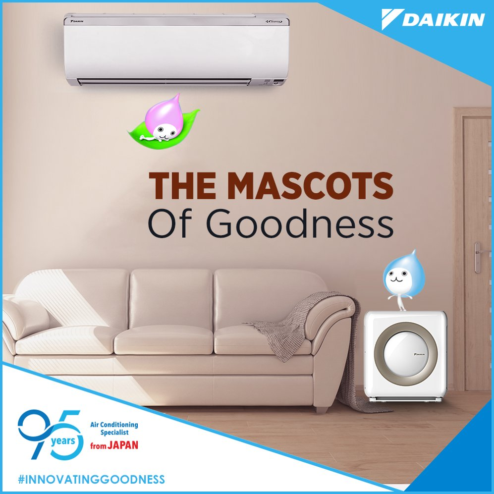Do you know what are these cute little mascots of Daikin called InnovatingGoodness https t.co op4bKCDZWH