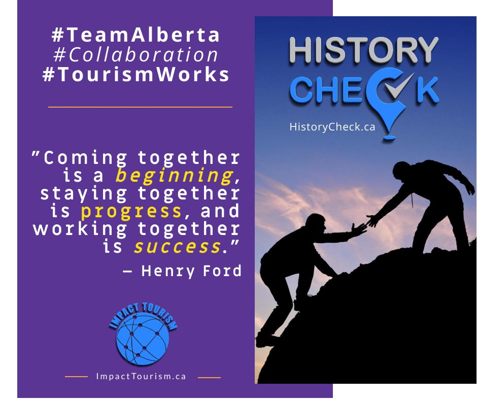 Coming together is a beginning, staying together is progress, and working together is success. - Henry Ford  #TeamAlberta #Alberta #TourismWorks #ABrecreation #TeamWork #yeg #yyc #abgp #ab #EconDev #AlbertaTourism #MotivationalQuotes #Tourism #AbLeg #success #goals #quoteofthedaypic.twitter.com/Bc5lZtofF2