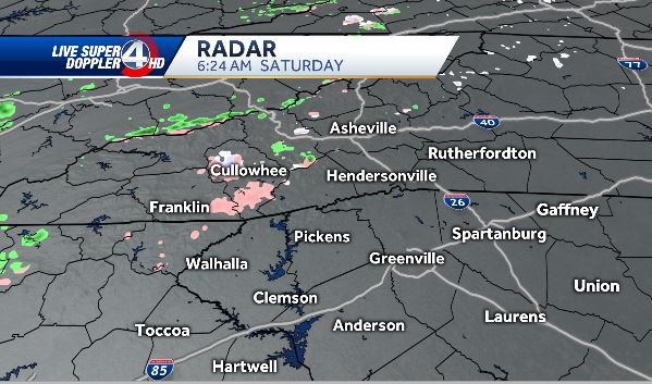 Starting to see some light wintry mix in our area...