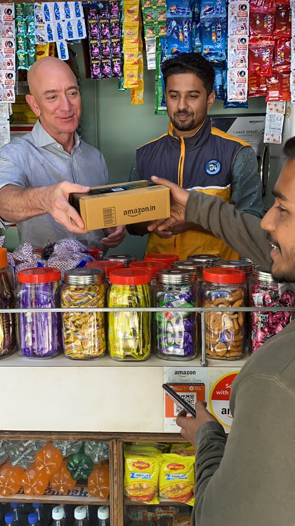 Amazon partners with thousands of mom-and-pop stores in India