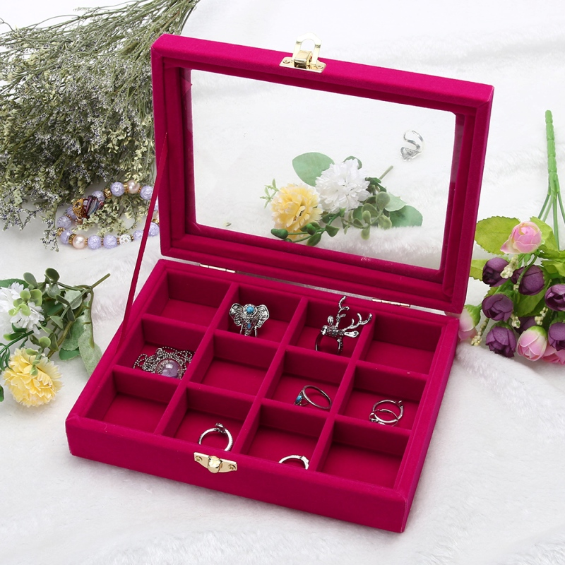 Velvet Glass Jewelry Box // Shop:  #JewelryBoxes #Awessories