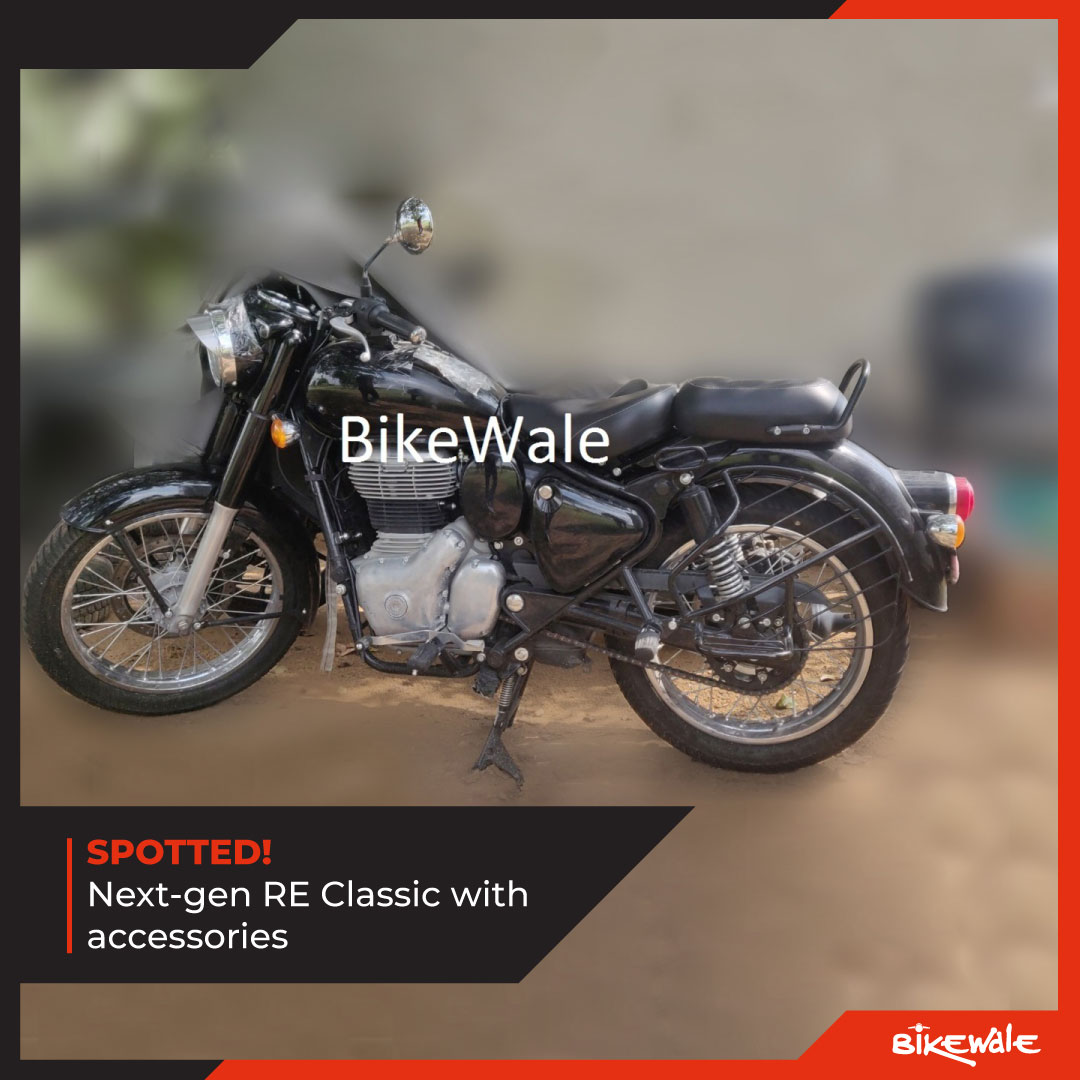 Next-gen Royal Enfield Classic spotted with accessories. What does the bike get? Know more: http://bit.ly/2R4OhSq #BWNews #BikeWale @royalenfield #royalenfieldbikes #royalenfieldindia #royalenfieldclassic #bike #bikes #motorcycles #bikelife #bikenews #newbikes #bikes2020pic.twitter.com/yUHbTvJBw3