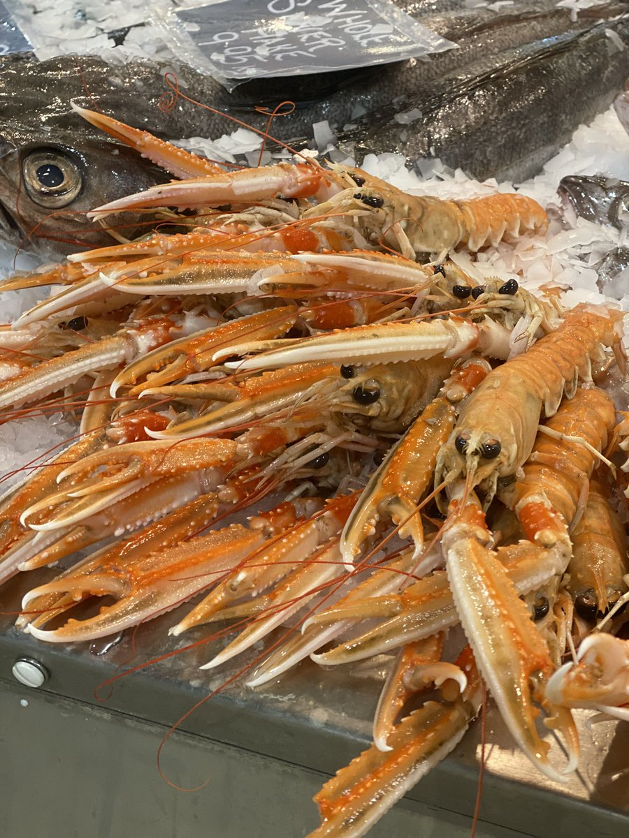 Right then! Lots of lovely fish in for you this weekend Blackburn! Best Scottish Langos, squid  and cracking monkfish! Also plenty of Shellfish from Morcambe Bay! Mussels, cockles & oysters. I'm thinking Bouillabaisse for tea! pic.twitter.com/0oAQOwnxFn