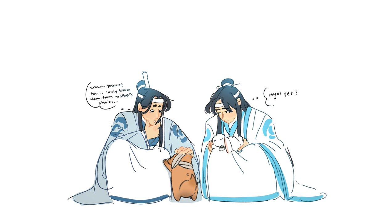 @sanlonglovegege 🦌: A crown prince, hm? What does he look like? Where did you last see him? Lets find him together! 🐰: mn. Cant stay long, though, I need to cook dinner..