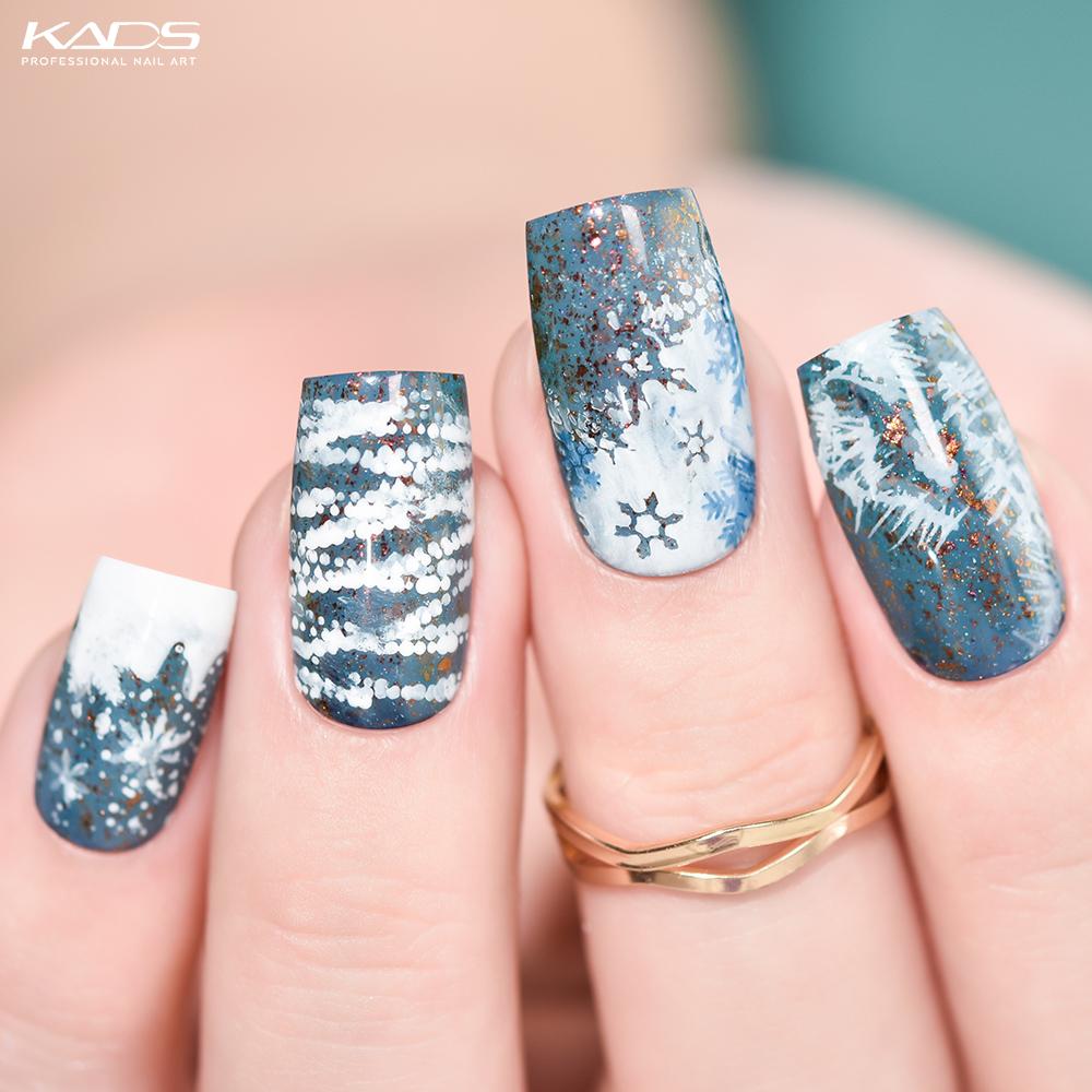 Snowflake KADS stamping plate · Christmas 015· #nails #kads #kadsnailart #nailart #nailfashion  #nailwork #naildesigns #nailplates #kadschristmas #kadschristmas015 #nailpolish #snownails #christmasnails #christmasnailart #bluenails #festivalnails #snowflakenails pic.twitter.com/fbIuwbNlzx