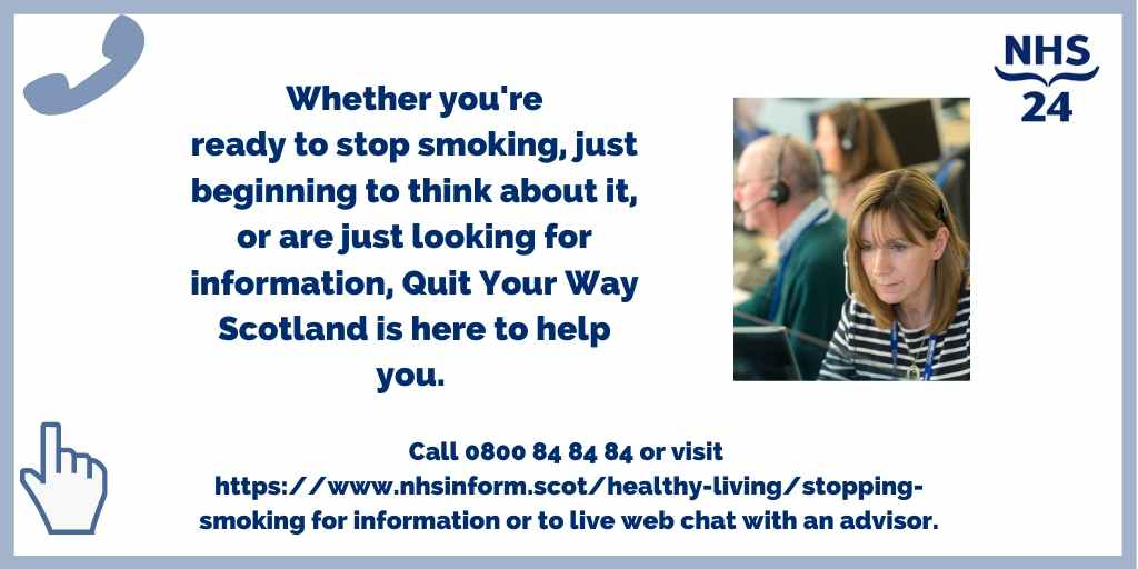 test Twitter Media - Our Quit Your Way Scotland helpline and webchat services are open Monday to Friday, 8.00am to 10.00pm, and Saturday and Sunday, 9.00am to 5.00pm. https://t.co/cBXW0S9XRT