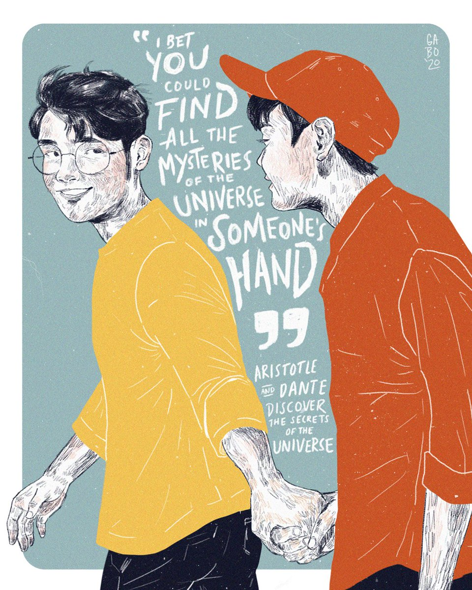 """""""I bet you could find all the mysteries of the universe in someone's hands.""""  - Aristotle and Dante Discover the Secrets of the Universe  #artph<br>http://pic.twitter.com/l3pbIkqoId"""