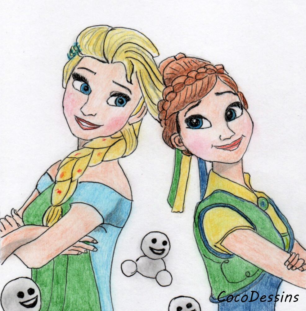 Dessin de La Reine des neiges #Frozen #lareinedesneiges   #Anna  #Elsa  #Disney #dessin #drawing #fanart #thedailysketch #dibujo #illustration #illustrationart pic.twitter.com/nASFSJCZAP