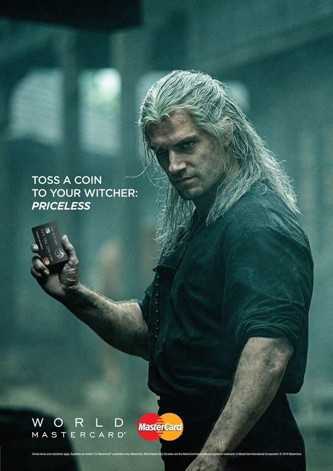 RT @HouseZarnGaming: Really #mastercard ? You too? #tossacointoyourwitcher #witcher #geraltofrivia #netflix https://t.co/4JOJ4AwNqQ
