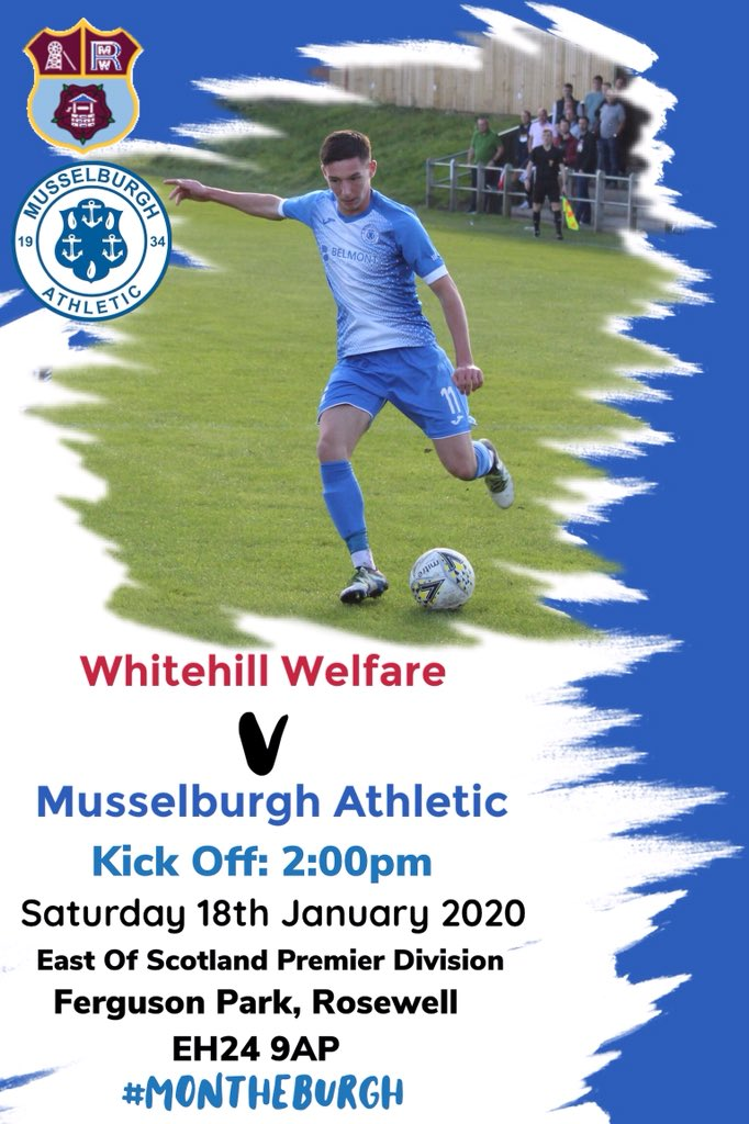 test Twitter Media - TODAYS MATCH  📅 Saturday 18th January 2020 🆚 Whitehill Welfare  🕑 2pm KO 🏆 East of Scotland Premier Division 🏟 Ferguson Park, Rosewell, EH24 9AP  #MonTheBurgh https://t.co/ZcBfEk9D0N
