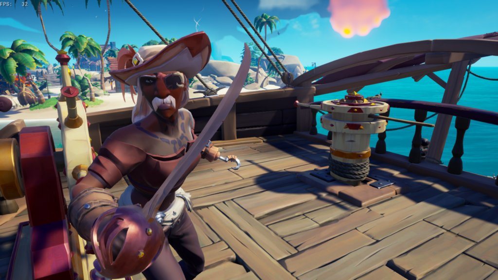 """Took the aristocrat theme in a bit of a different direction and thought why shouldn't I be able to have a fancy moustache also?"" posted by u/salixtheseawitch in r/SeaOfFashion  #SeaOfFashion #BeMorePirate #SoTShot #SeaOfThieves"