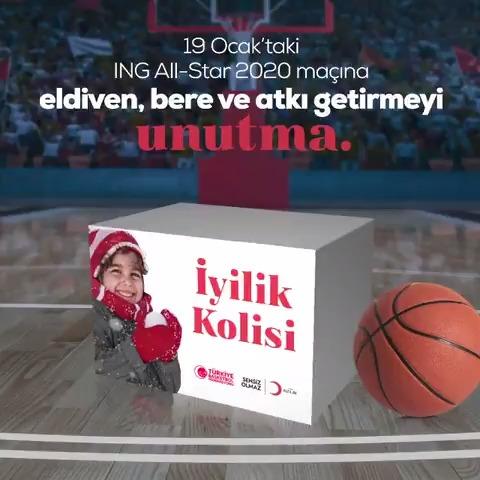 Image for the Tweet beginning: Türkiye Basketbol Federasyonu, @Kizilay ve