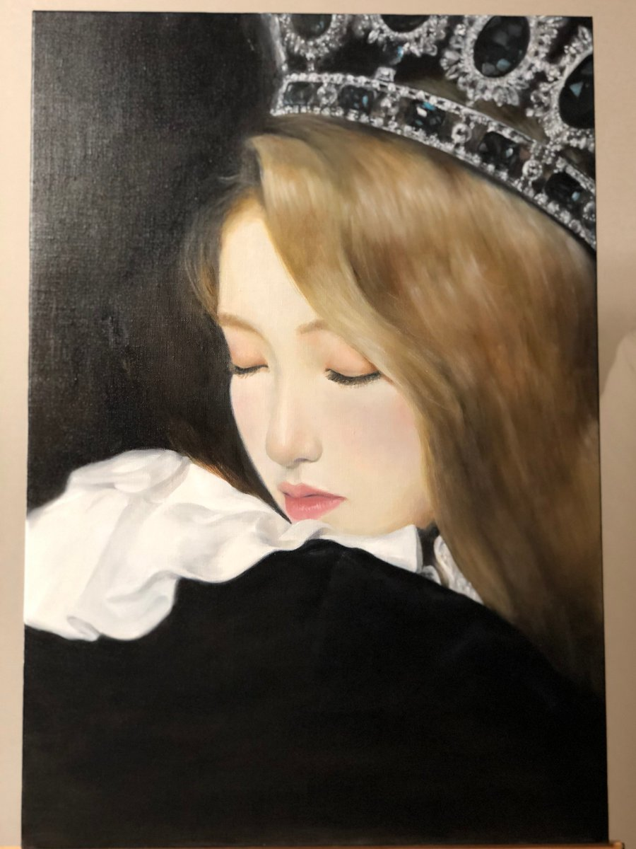 """""""one & only""""oil on canvas, (72.7 x 50.0 cm) 20호  #loona #gowon <br>http://pic.twitter.com/Ry6FqV9oBa"""