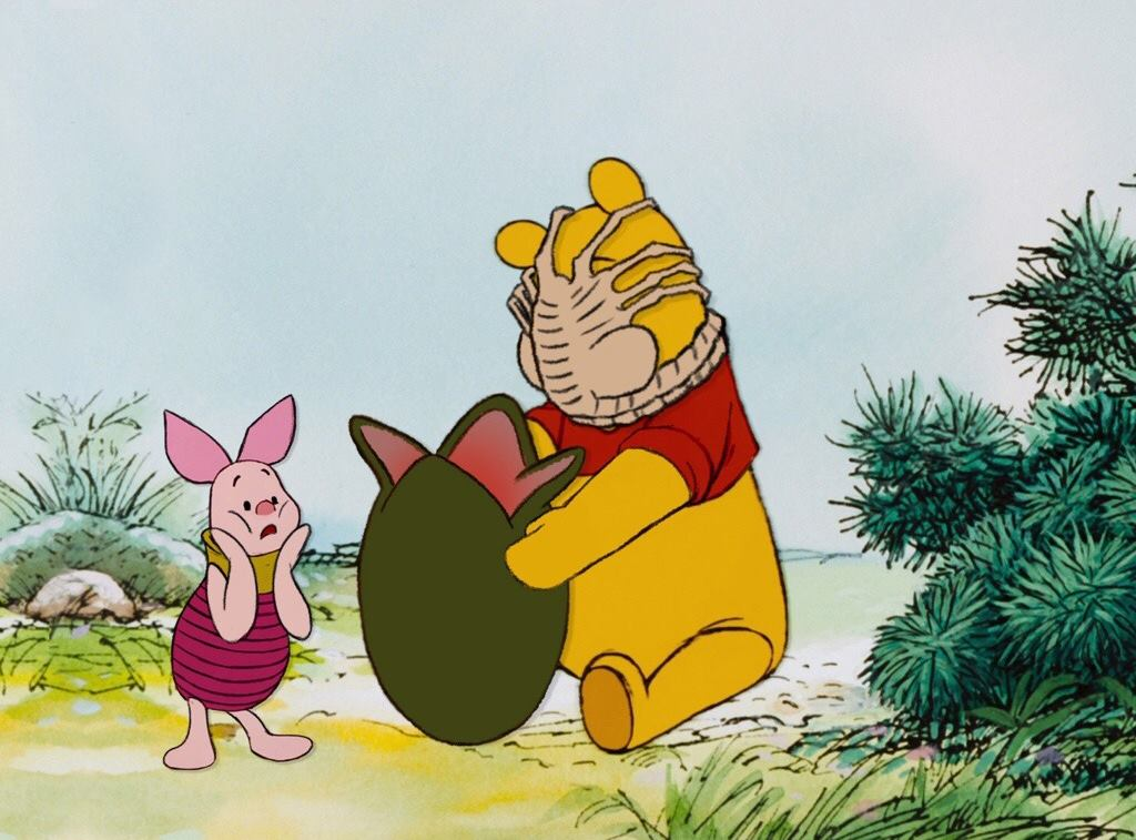 """""""I admire its purity. A survivor... unclouded by conscience, remorse, or delusions of morality"""" - said Piglet  #WinnieThePoohDay<br>http://pic.twitter.com/TDRHtI2d4v"""