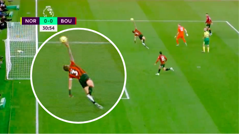 And the most obvious red card in the history of football goes to... Bournemouth defender Steve Cook 😂