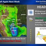 Image for the Tweet beginning: Widespread Rains to Return  Another frontal