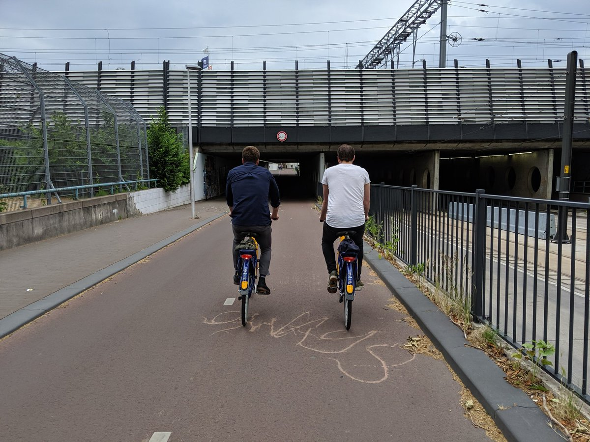 Cycling is a social method of transportation. Bike paths should be built to accommodate side by side riding as a standard everywhere. <br>http://pic.twitter.com/YLo9Vp93gV