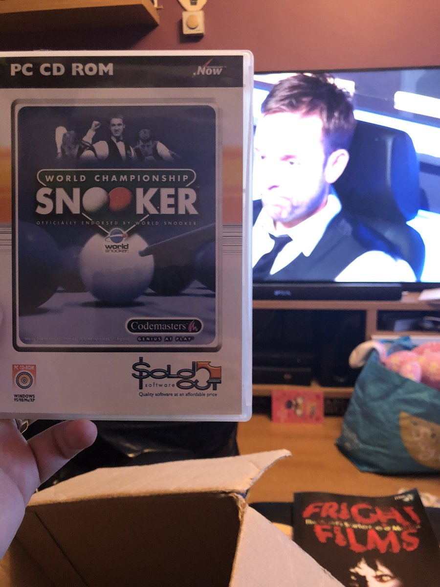 Watching #bbcsnooker and tidying up and came across old snooker game from 2001 down from the loft!