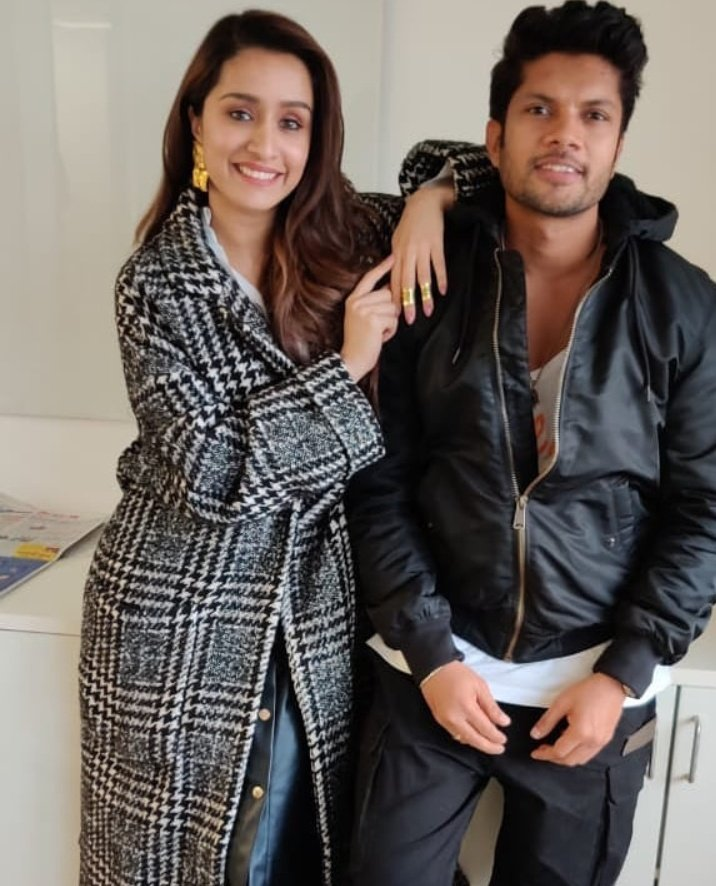 [PIC] @ShraddhaKapoor clicked with #SushantPujari today in Chandigarh as they promote #StreetDancer3D! 💖🌟