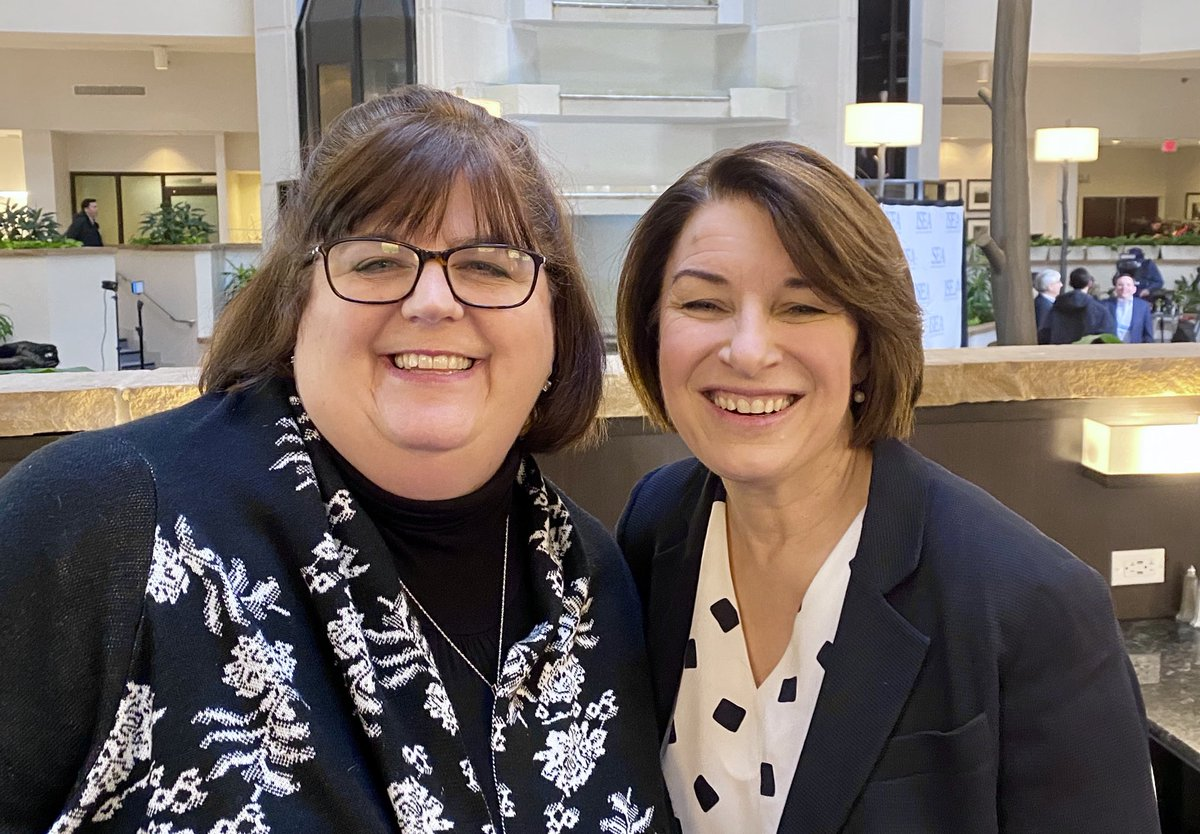 Great to see @amyklobuchar this am!!