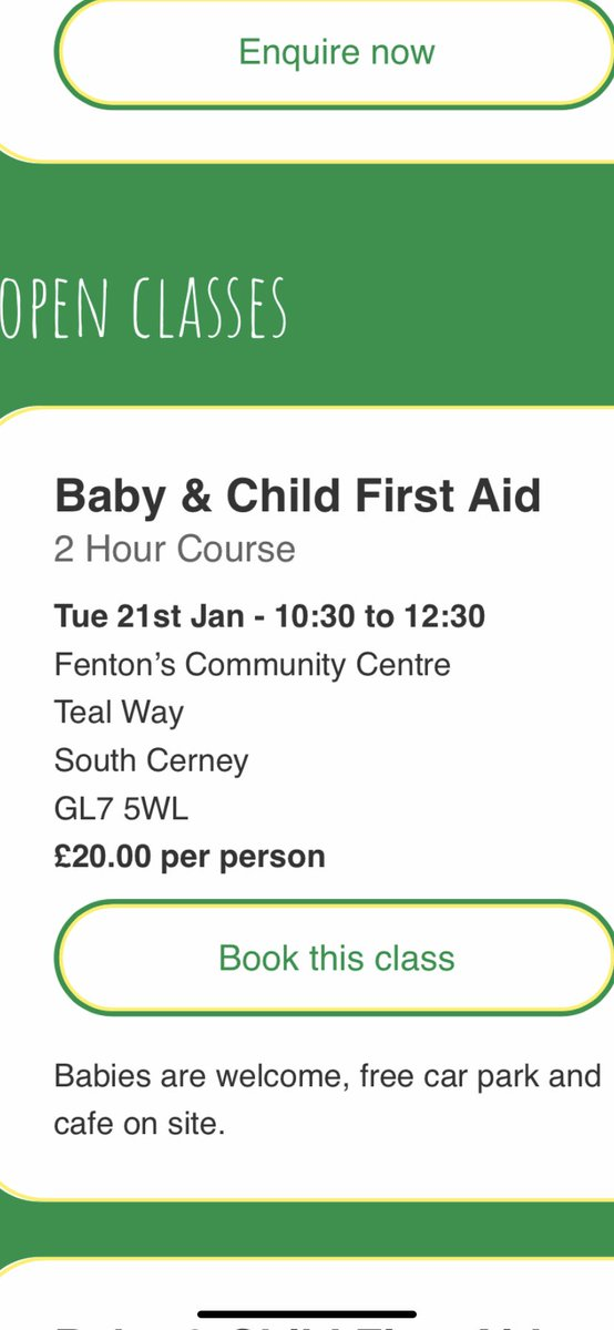 Places still available for my class @cirencester to book visit http://gloucestershire.minifirstaid.co.uk #southcerney #gloucestershire #babyfirstaid pic.twitter.com/ClIPLkbVpp