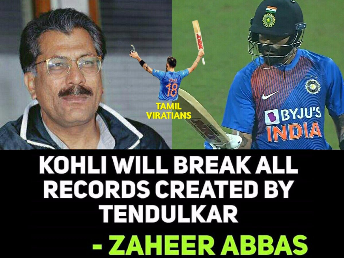 Virat Kohli Will Break All Records Created By Sachin Tendulkar.!                      - Zaheer Abbas  #ViratKohli #KingKohli #TeamIndia <br>http://pic.twitter.com/btgrQ2kxx8
