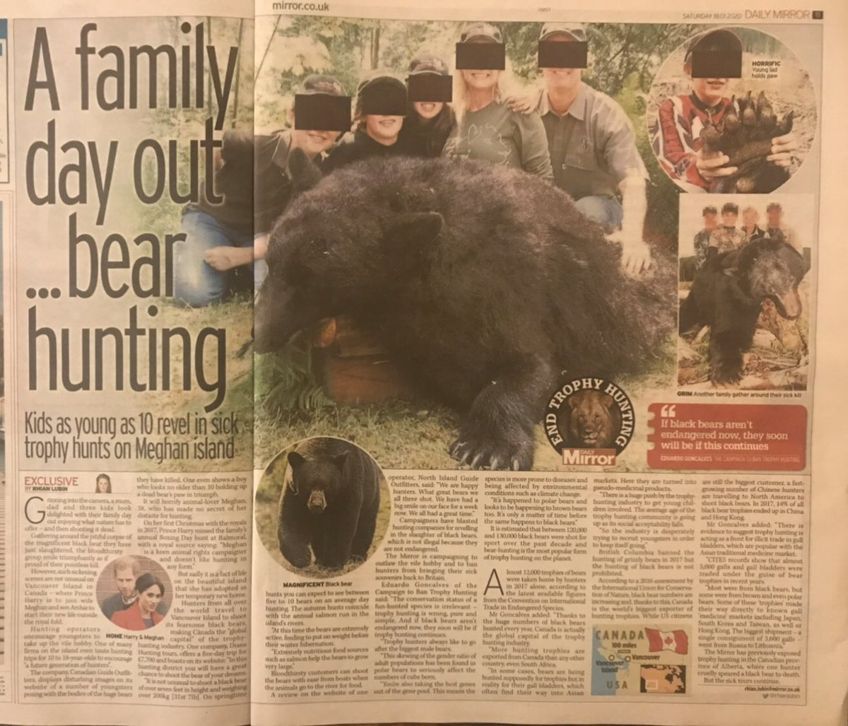 The family that likes killing bears... for FUN :( It's time to #BanTrophyHunting Please sign/share this petition to U.K. govt: change.org/p/boris-johnso…
