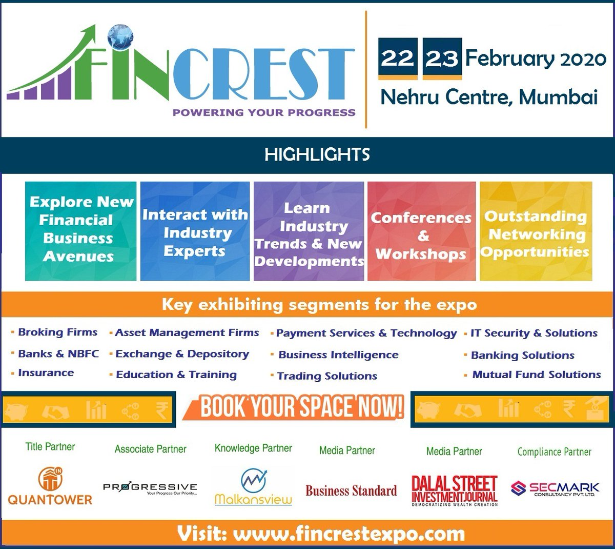 Being an #exhibitor at #FincrestExpo comes with many opportunities! Register Now: https://www.fincrestexpo.com/want_to_exhibit.php…  #wealthcreation #BusinessGrowth #networking #stockmarkets #Banking #mutualfunds #technologies #conferences #insurance #tradingpic.twitter.com/AKxZ1t4lqB