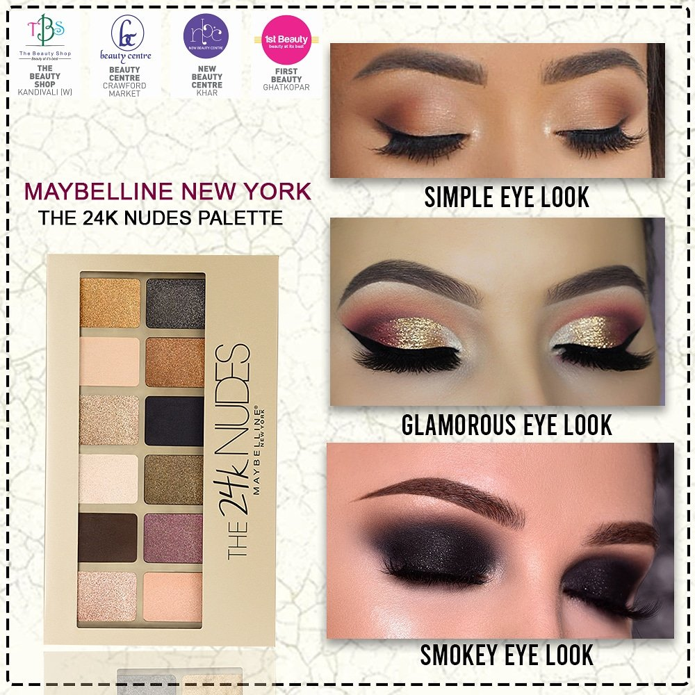 Make your Saturday nights lit with Maybelline 's glamorous Eye shadow available at New Beauty Centre, Beauty Centre, 1st Beauty, and The Beauty Shop.  #EyeMakeup #EyeLook #EyeShadow #maybelline #SaturdayNight  #EyeMakeupLook #EyeMakeupPalatte #NBC #NewBeautyCentreOfficalpic.twitter.com/OpMYpedPva