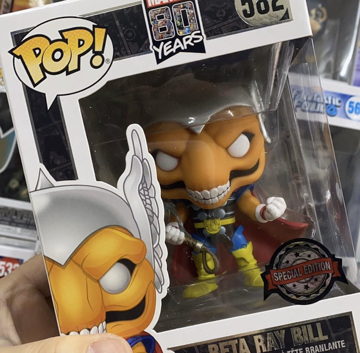 First look at Marvel 80th Anniversary: Beta Ray Bill. Presumably a Walgreens Exclusive here in the US.