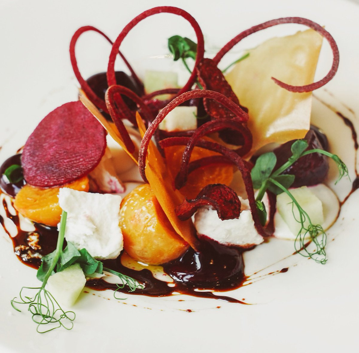 Slow Cooked Beetroot Salad With creamy goats cheese, crispy filo pastry, cane syrup and apple   https://branchesrestaurant.co.uk  #nefollowers #nefoodies #newcastlerestaurants #healthylifestyle #branchesjesmond #salad #healthychoices #beetroot #goatscheese #northeastfoodiespic.twitter.com/roPtjVhDUy