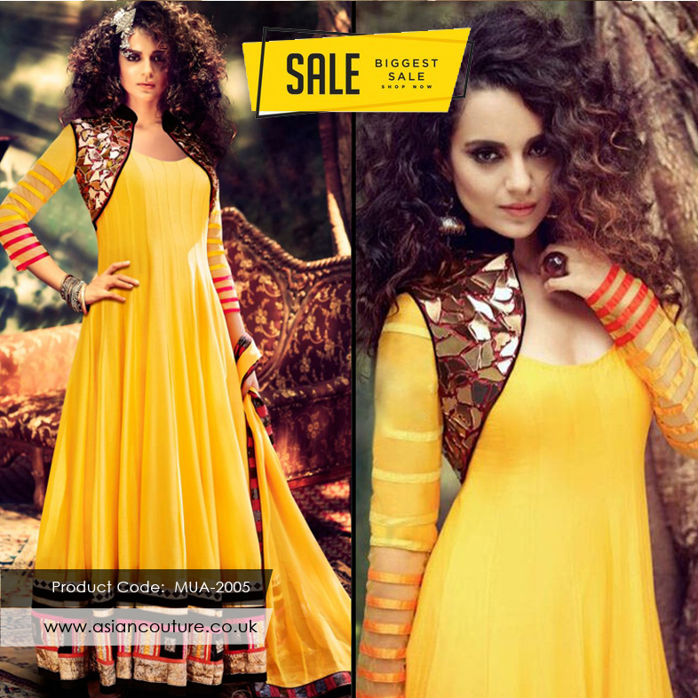 Dress up in this gorgeous #designer anarkali dress by Asian Couture. Now Up to 20% off. Hurry while stock last.   Shop now @ https://www.asiancouture.co.uk/buttercup-yellow-muaak-mirror-maze-2005-jinaam-designer-dress-mua-2005…  #mayoundresses #Indiandresses #anarkalisuit #kangnaranaut #bollywoodoutfits #vogueoutfitspic.twitter.com/QaQqHYas8J