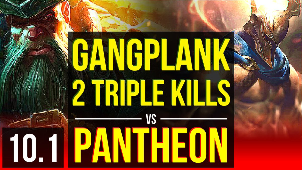 GANGPLANK vs PANTHEON (TOP) | 2 Triple Kills, KDA 13/1/8, Legendary | Korea Grandmaster | v10.1  https://www.youtube.com/watch?v=dVvv_DHCJZM…  #LeagueOfLegends #lolReplaypic.twitter.com/U4Nh5B60T3