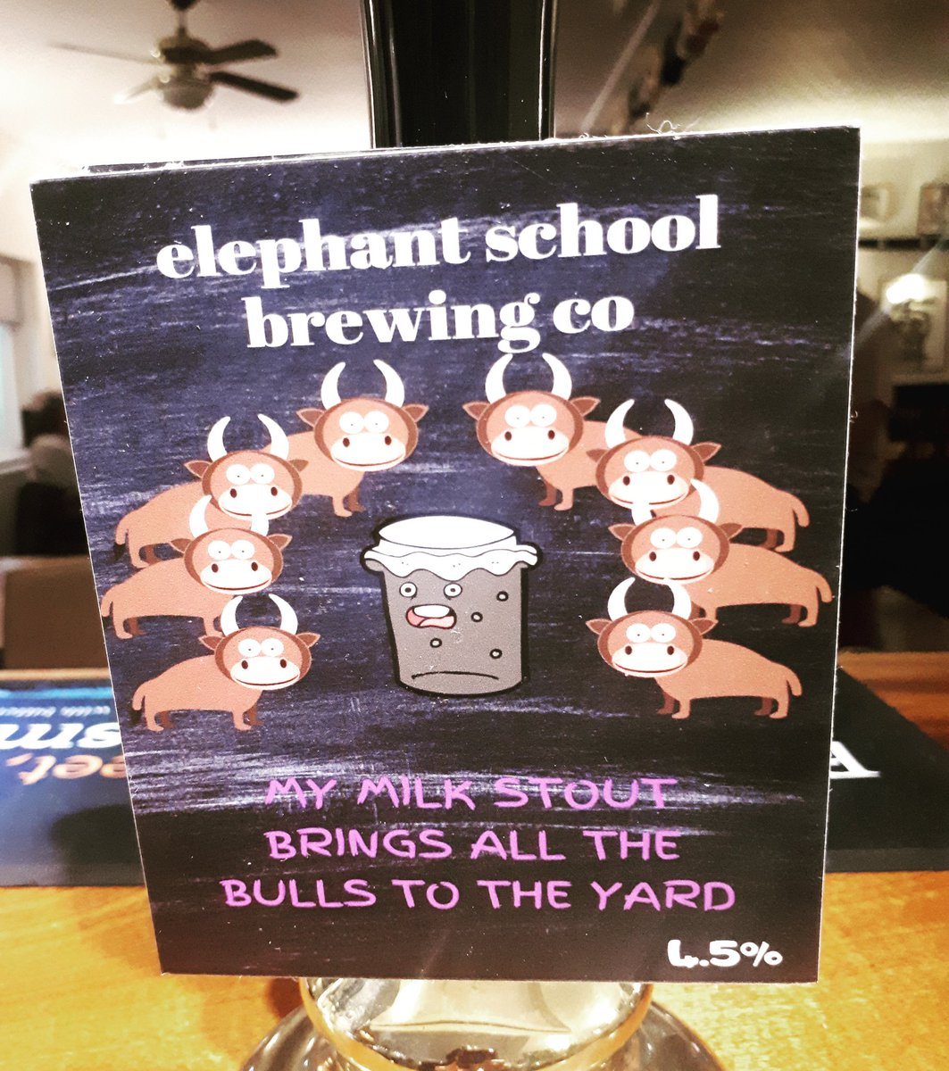 Now serving this cheeky brew... 🍻@ElephantSchoolB @BrentwoodBrewCo #everydayisabeerfestival #beer #nowserving #onthebar #local #localale #localbrew