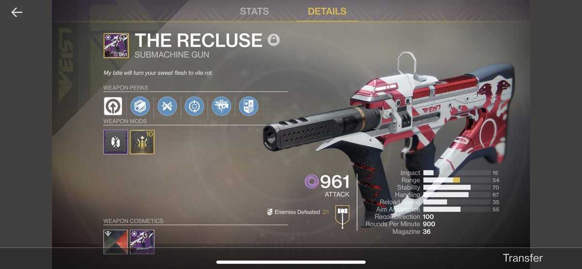Dang what a grind. I know it got nerfed, but it's still one of the best ad clear guns in the game. #destiny2 #destiny2ps4 #destinythegame #d2 #bungie #ps4pic.twitter.com/hANXorL8FG