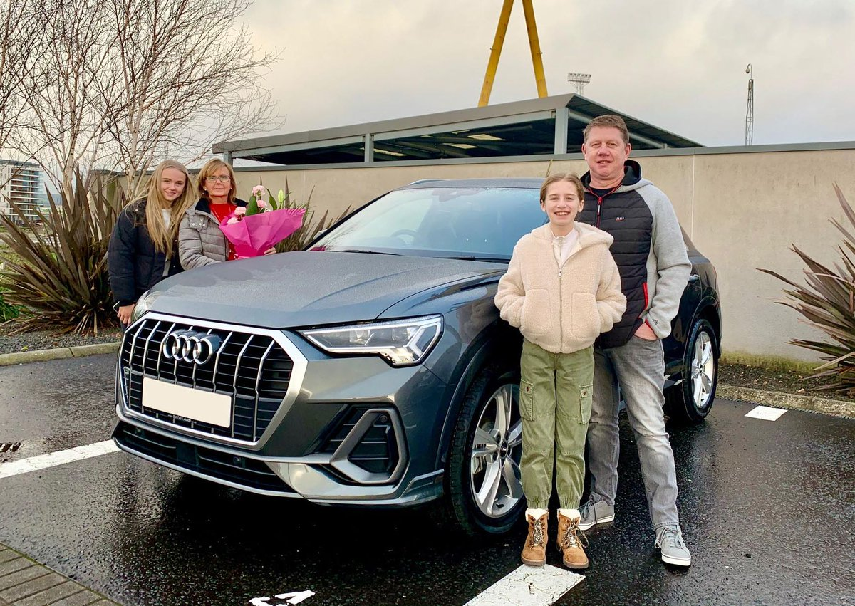 Ni Audi On Twitter Congratulations To Jonene Drumond And Her Family Who Collected Their New Audi Q3 35 Tfsi S Line Finished In Daytona Grey From Sales Executive Mark Lynch Enjoy Your