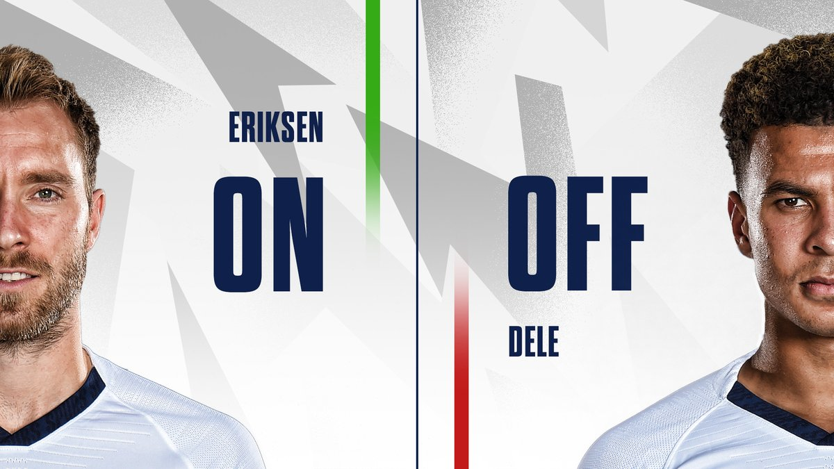 73 - Our first change: ➡️@ChrisEriksen8 ⬅️@dele_official 🟡#WatfordFC 0-0 #THFC ⚪️