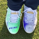 Rocking these #NVRQT @PCRF_Kids custom @Jumpman23 11's this weekend at the @diamondresorts Tournament of Champions. Stay tuned for auction info! Let's go!