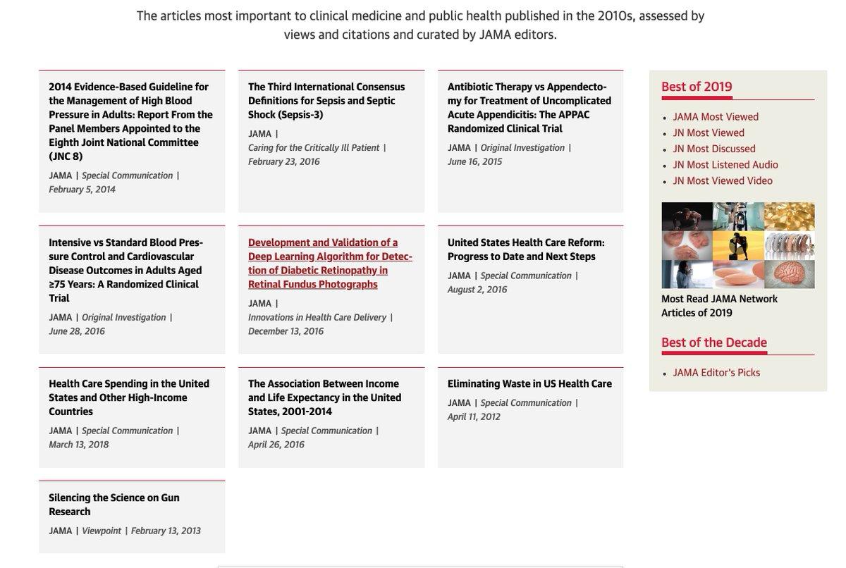 Editor's Picks from 2010 to 2019 | JAMA | JAMA Network
