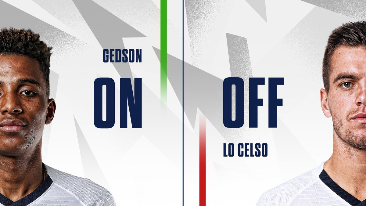 79 - Gedson is on for his debut! ➡️ Gedson Fernandes ⬅️@LoCelsoGiovani 🟡#WatfordFC 0-0 #THFC ⚪️