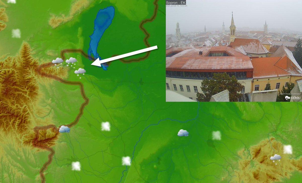 ❄️Elérte az országot a hidegfront csapadékzónája, Sopronban már havazik. Aktuális helyzetkép: