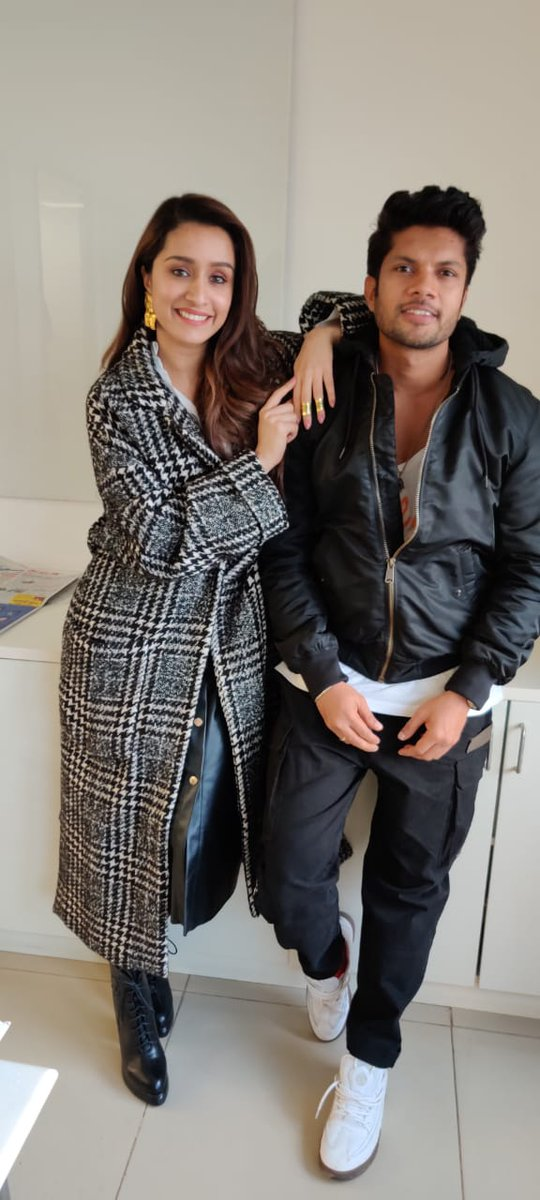 .@ShraddhaKapoor and #SushantPujari for #StreetDancer3D promotions in Chandigarh