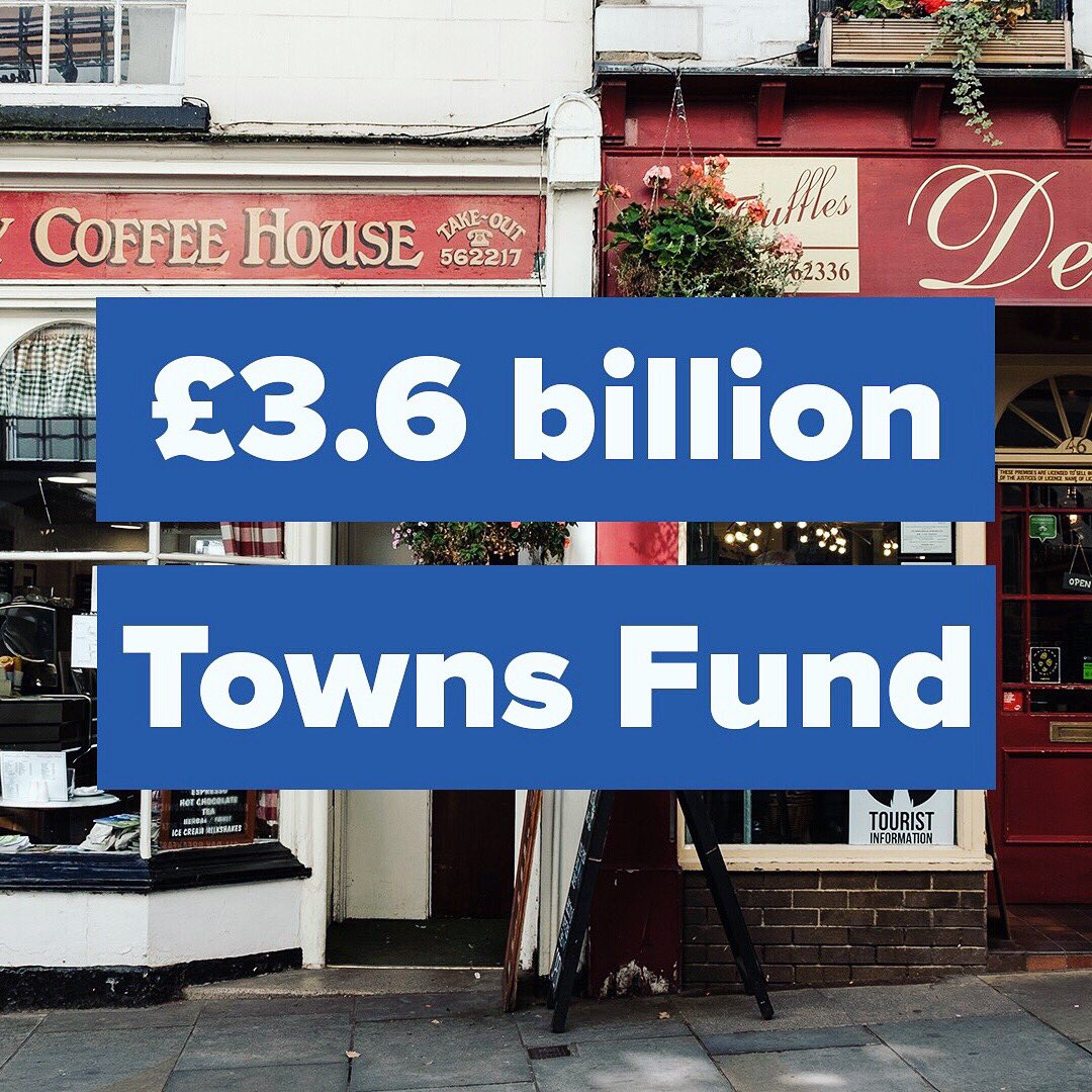 💷 We're already serving local communities and generating real change through our £3.6 billion Towns Fund  JOIN US NOW 👉   #Conservatives #TownsFund #Brighton #community #invest