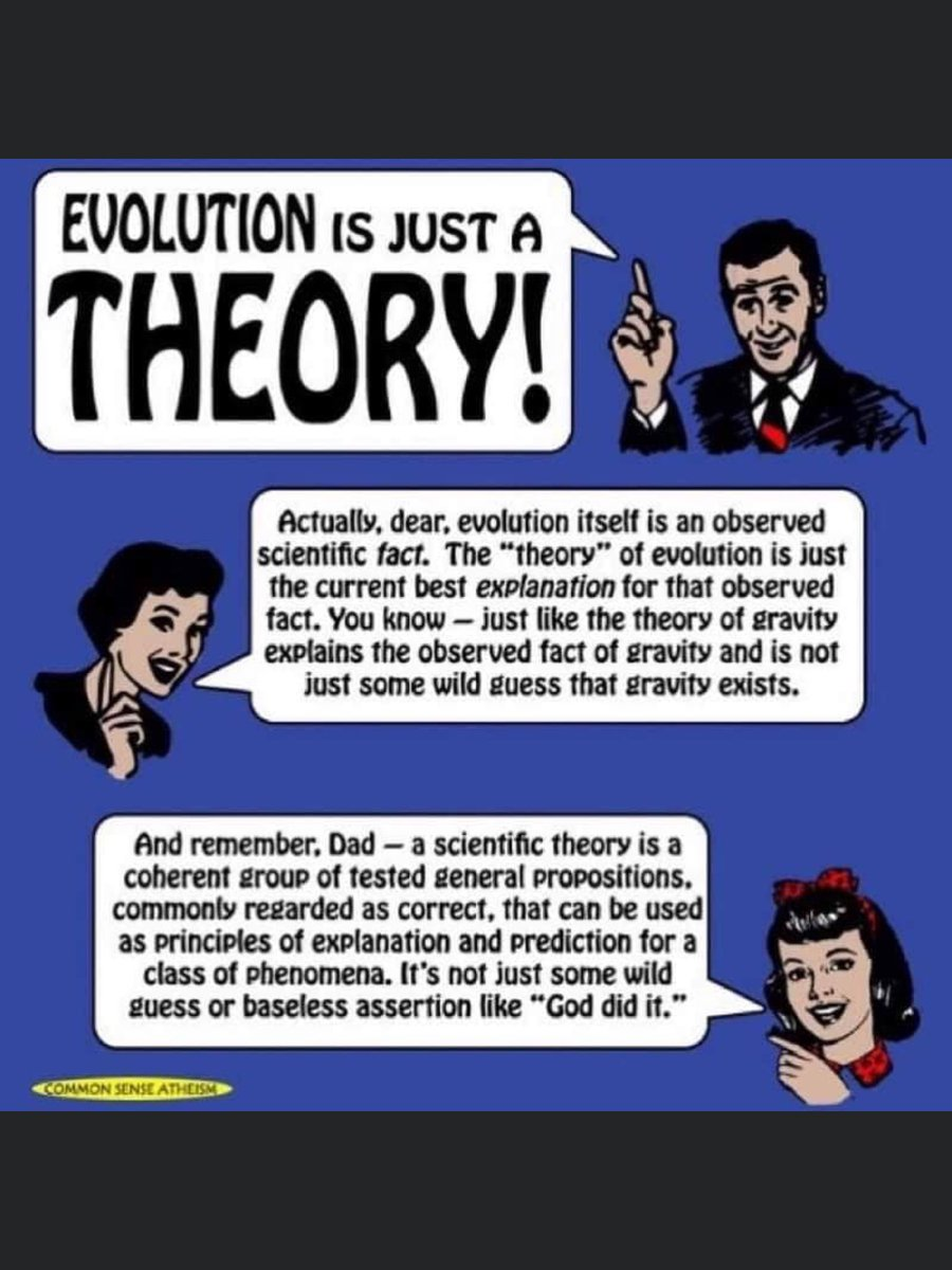 #evolution a scientific theory