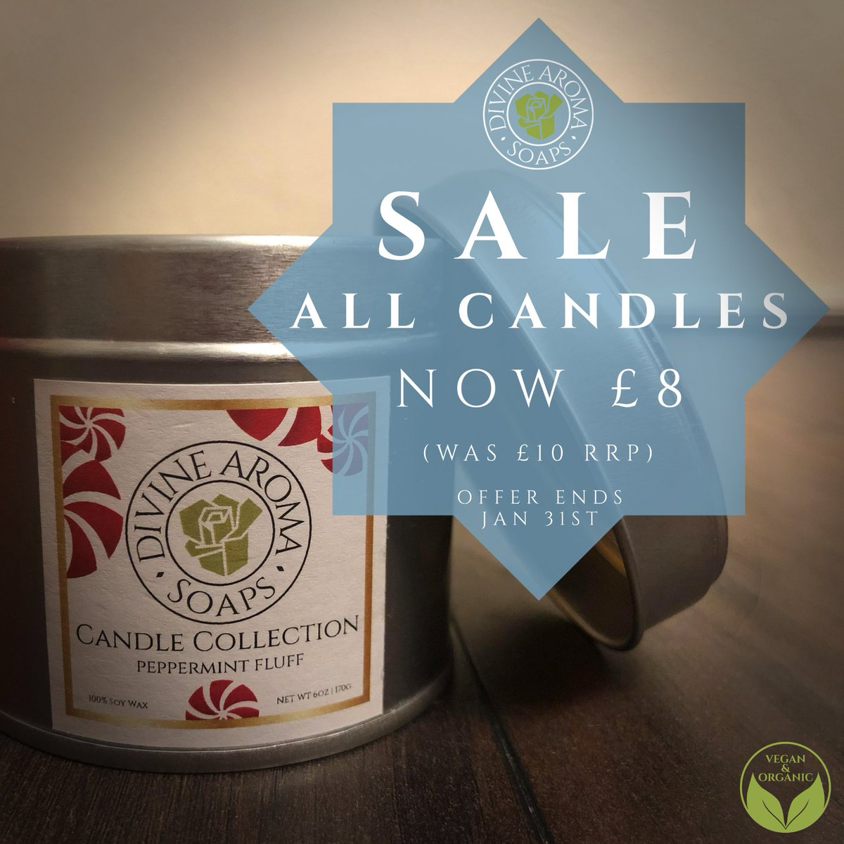 January Sale!  20% off all our candles!  Now £8 each!  https://www.divinearomasoaps.co.uk    Have a Divine Day! #scentedsoaps #scentedcandles #handmade #handmadesoap #handmadecandles #fragrant #vegan #natural #organic #discount #sale #DivineAromaSoaps #soap #SpecialOffer #JanuarySalepic.twitter.com/E9tcu1oL6u