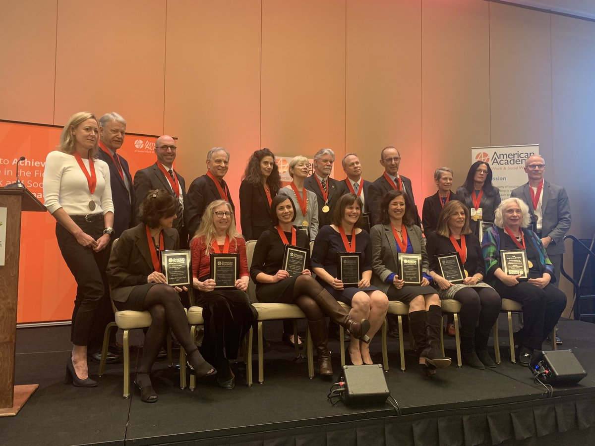 Congratulation to the 2020 Fellows for the American Academy of Social Work and Social Welfare @AASWSWorg @SSWRorg